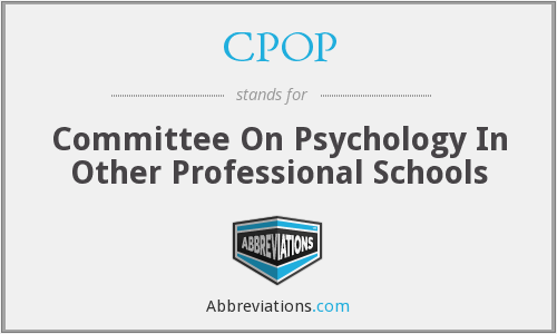 CPOP - Committee On Psychology In Other Professional Schools