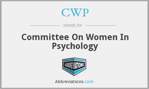 CWP - Committee On Women In Psychology