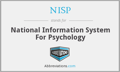 NISP - National Information System For Psychology