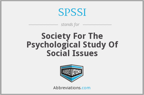 What does SPSSI stand for?
