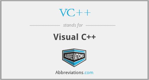 VC++ - Visual C++