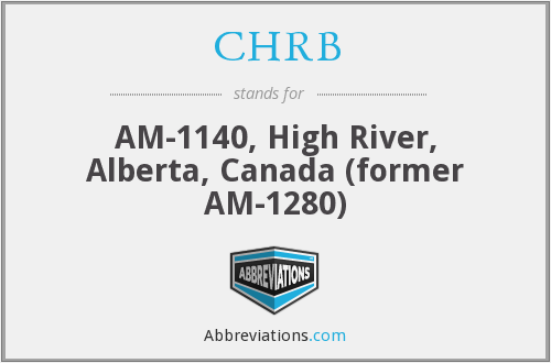 CHRB - AM-1140, High River, Alberta, Canada (former AM-1280)