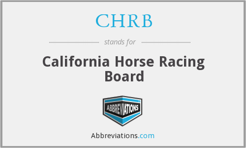 CHRB - California Horse Racing Board