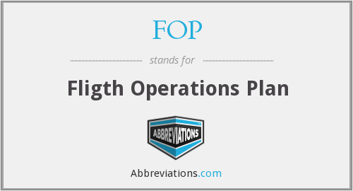 FOP - Fligth Operations Plan