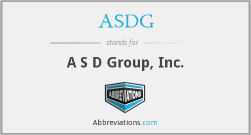 What does ASDG stand for?