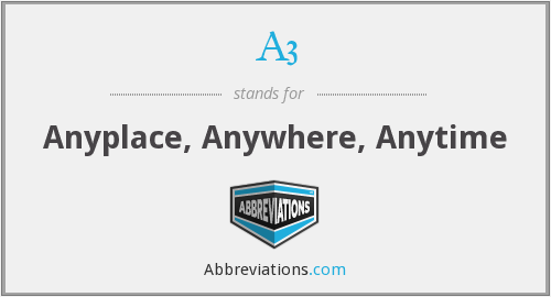 A3 - Anyplace, Anywhere, Anytime