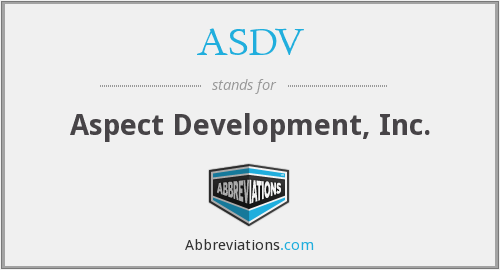 ASDV - Aspect Development, Inc.
