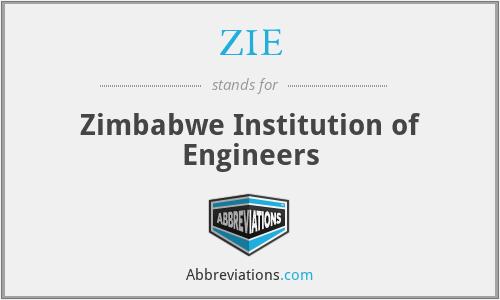 ZIE - Zimbabwe Institution of Engineers