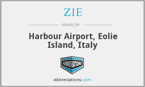 ZIE - Harbour Airport, Eolie Island, Italy