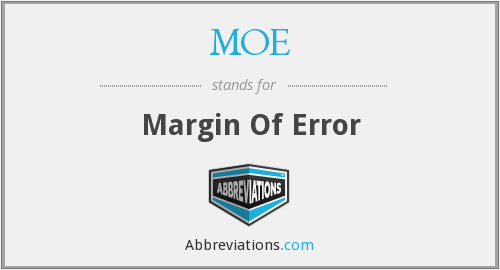 MOE - Margin Of Error