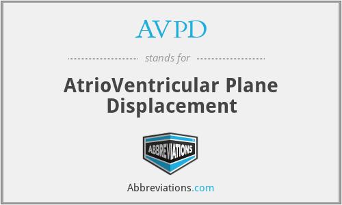 AVPD - AtrioVentricular Plane Displacement