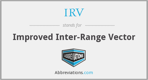 IRV - Improved Inter-Range Vector