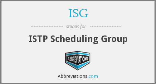 ISG - ISTP Scheduling Group