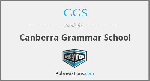 CGS - Canberra Grammar School