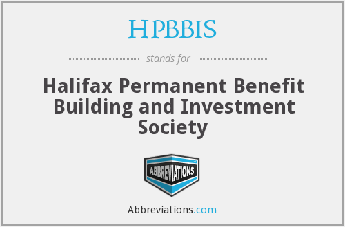HPBBIS - Halifax Permanent Benefit Building and Investment Society