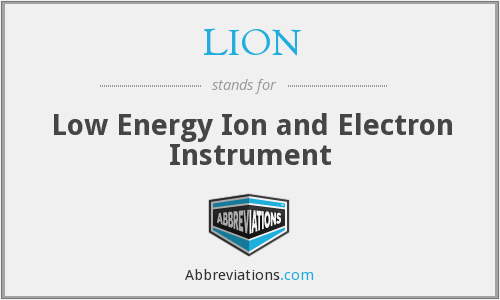 LION - Low Energy Ion and Electron Instrument