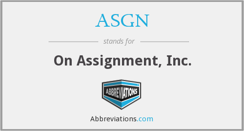 What does ASGN stand for?