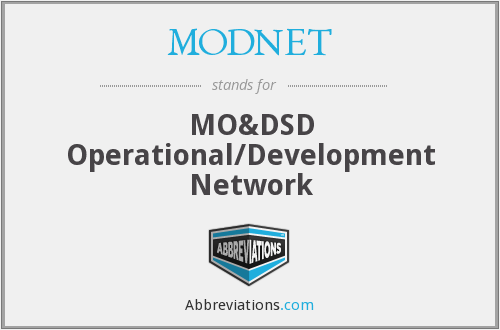 What does MODNET stand for?