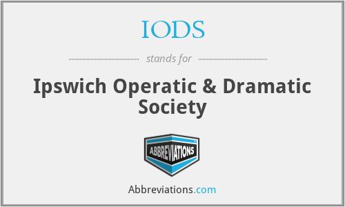 IODS - Ipswich Operatic & Dramatic Society