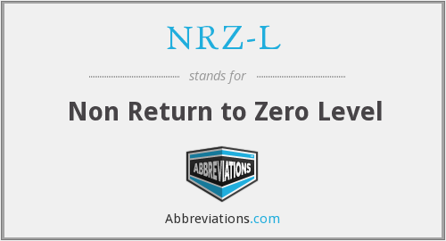 What does NRZ-L stand for?