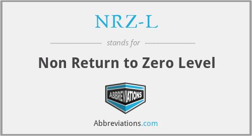 NRZ-L - Non Return to Zero Level