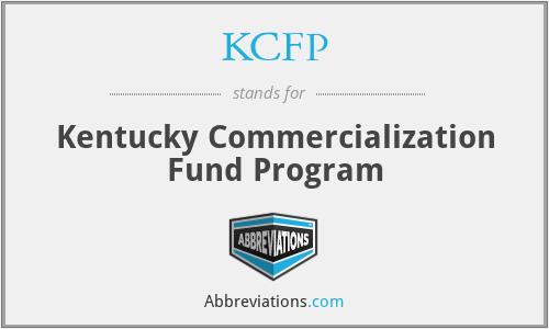 KCFP - Kentucky Commercialization Fund Program