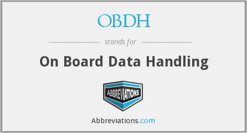 OBDH - On Board Data Handling