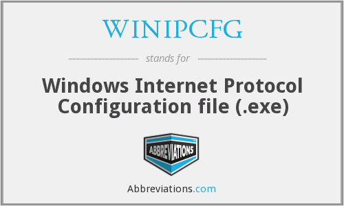 WINIPCFG - Windows Internet Protocol Configuration file (.exe)