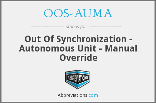 OOS-AUMA - Out Of Synchronization - Autonomous Unit - Manual Override