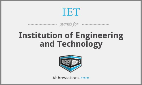 IET - Institution of Engineering and Technology
