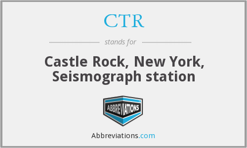 CTR - Castle Rock, New York, Seismograph station