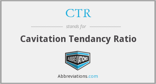 CTR - Cavitation Tendancy Ratio