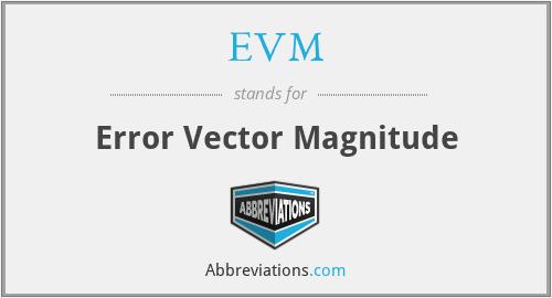 EVM - Error Vector Magnitude