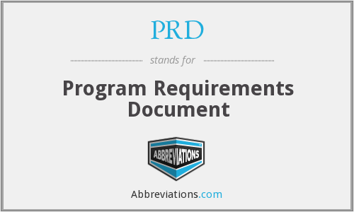 PRD - Program Requirements Document