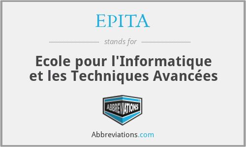 EPITA - Ecole pour l'Informatique et les Techniques Avancées