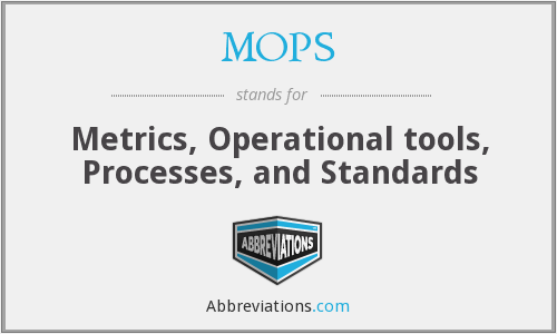 MOPS - Metrics, Operational tools, Processes, and Standards