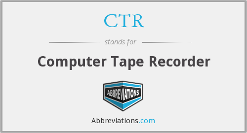 CTR - Computer Tape Recorder