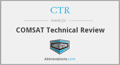 CTR - COMSAT Technical Review