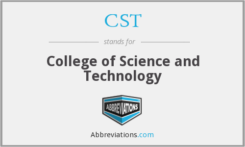 CST - College of Science and Technology