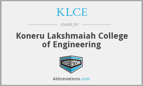 KLCE - Koneru Lakshmaiah College of Engineering
