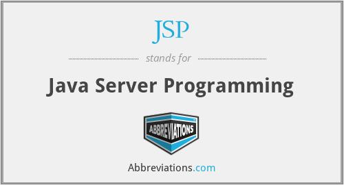 JSP - Java Server Programming