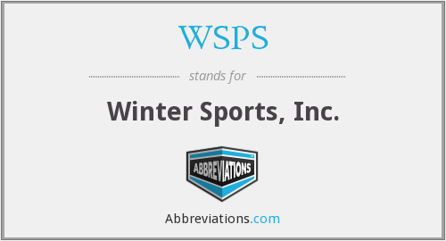 WSPS - Winter Sports, Inc.