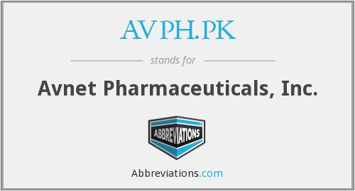 What does AVPH.PK stand for?