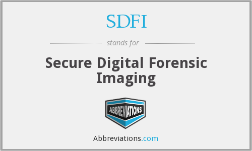 SDFI - Secure Digital Forensic Imaging