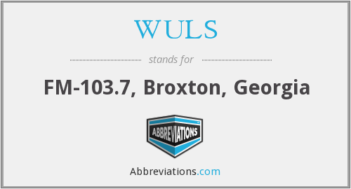 WULS - FM-103.7, Broxton, Georgia