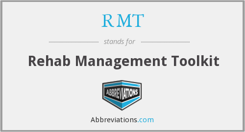 RMT - Rehab Management Toolkit