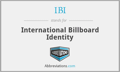 IBI - International Billboard Identity