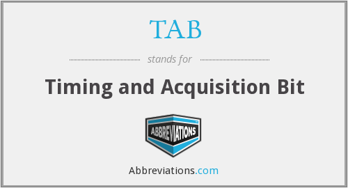 TAB - Timing and Acquisition Bit
