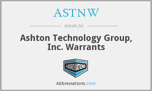 What does ASTNW stand for?