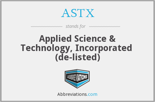 What does ASTX stand for?